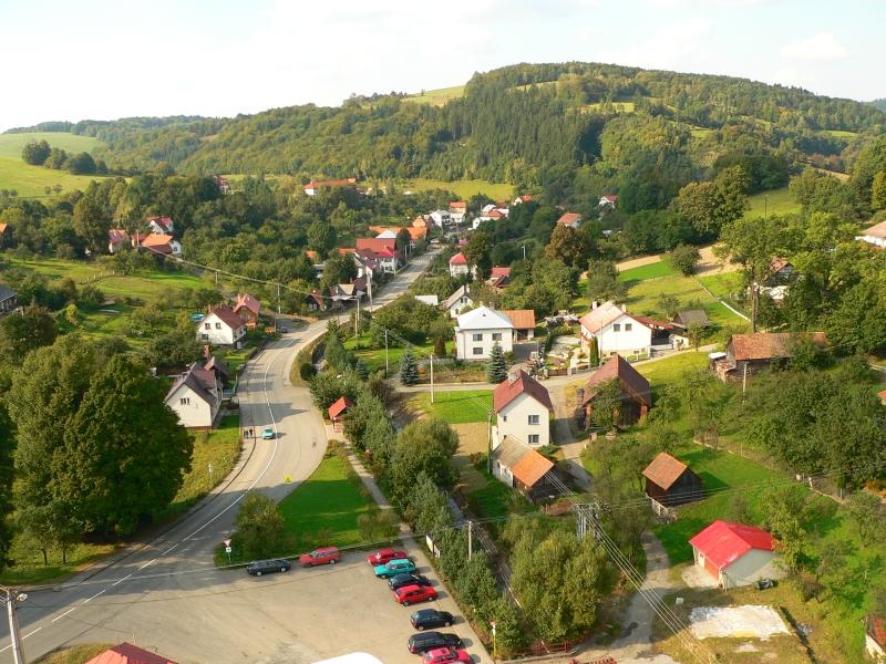 Pohled na obec z veze kostela
